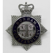 Durham Constabulary Senior Officer's Enamelled Cap Badge - Queen'