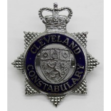 Cleveland Constabulary Senior Officer's Enamelled Cap Badge - Queen's Crown