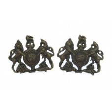 Pair of General Service Corps Officer's Service Dress Collar Badges - King's Crown