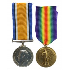 WW1 British War & Victory Medal Pair - Pte. G. Waite, Royal B