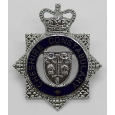 Cheshire Constabulary Senior Officer's Enamelled Cap Badge - Quee