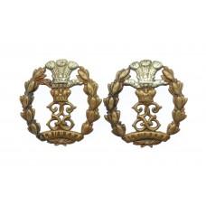 Pair of Middlesex Regiment Collar Badges