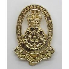 Queen's Lancashire Regiment Anodised (Staybrite) Cap Badge - Quee