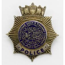 Felixstowe Dock & Railway Company Police Cap Badge