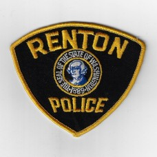 United States Renton Police Cloth Patch