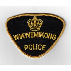 Canadian Wikwemikong Police Cloth Patch