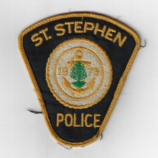 Canadian St. Stephen Police Cloth Patch