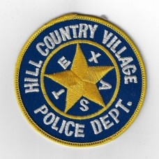 United States Hill Country Village Police Department Cloth Patch