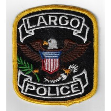 United States Largo Police Cloth Patch