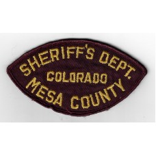 United States Mesa County Colorado Sheriffs Department Cloth Patch