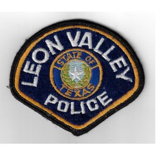 United States Leon Valley Police State of Texas Cloth Patch
