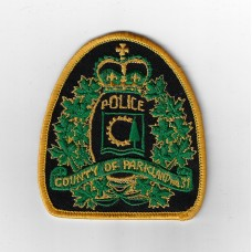 Canadian County of Parkland Police Cloth Patch