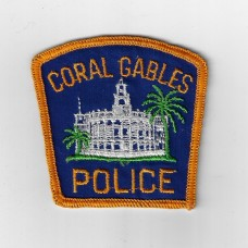 United States Coral Gables Police Cloth Patch