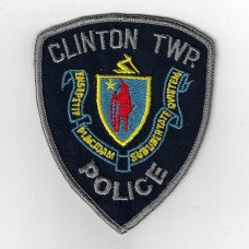 United States Clinton TWP Police Cloth Patch