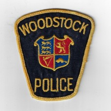Canadian Woodstock Police Cloth Patch