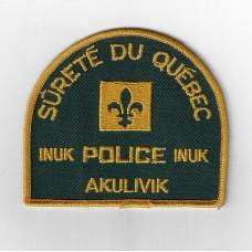 Canadian Sùreté Du Québec INUK Akulivik Police Cloth Patch