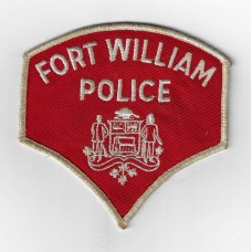 Canadian Fort William Police Cloth Patch