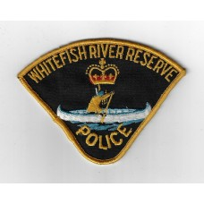 Canadian Whitefish River Reserve Police Cloth Patch