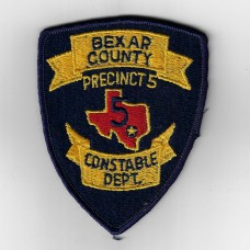 United States Precinct 5 Bexar County Texas Police Constable Department Cloth Patch