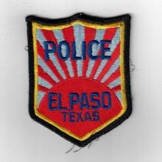 United States El Paso Texas Police Cloth Patch