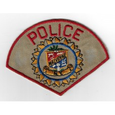 United States Malverne Police Cloth Patch