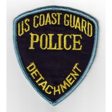 United States US Coast Guard Police Detachment Cloth Patch