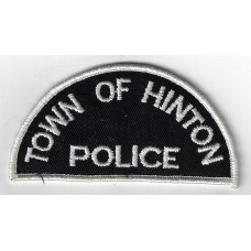 United States Town of Hinton Police Cloth Patch