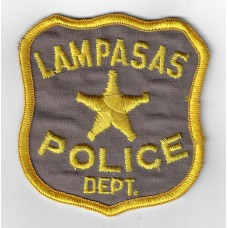 United States Lampasas Police Department Cloth Patch