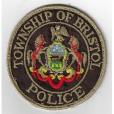 United States Township of Bristol Cloth Patch