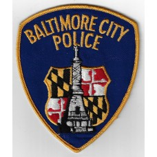 United States Baltimore City Police Cloth Patch