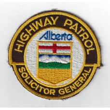 Canadian Alberta Solicitor General Highway Patrol Cloth Patch