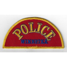 United States Winnetka Police Cloth Patch