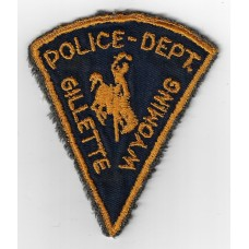 United States Gilette Wyoming Police Department Cloth Patch