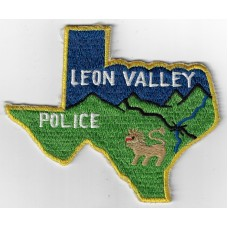 United States Leon Valley Police Cloth Patch