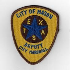 United States City of Mason Texas Deputy City Marshall Cloth Patch