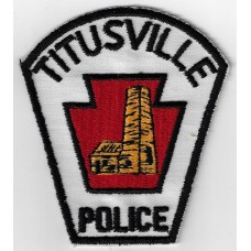 United States Titusville Police Cloth Patch