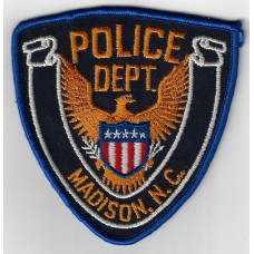 United States Madison N.C. Police Department Cloth Patch