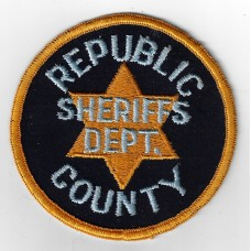 United States Republic County Sheriffs Department Cloth Patch
