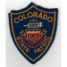 United States Colorado State Patrol Cloth Patch