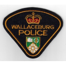 Canadian Wallaceburg Police Cloth Patch