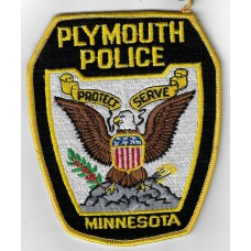 United States Plymouth Police Minnesota Cloth Patch