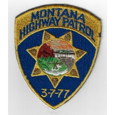 United States Montana Highway Patrol Cloth Patch
