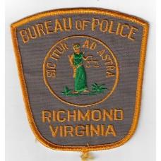 United States Bureau of Police Richmond Virginia Cloth Patch