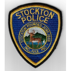 United States Stockton Police Cloth Patch