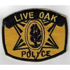 United States Live Oak Police Cloth Patch