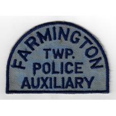United States Farmington Township Police Auxiliary Cloth Patch