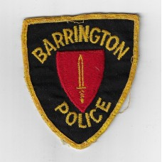 United States Barrington Police Cloth Patch