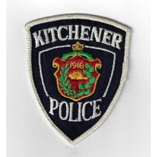 Canadian Kitchener Police Cloth Patch