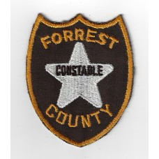 United States Forrest County Constable Cloth Patch