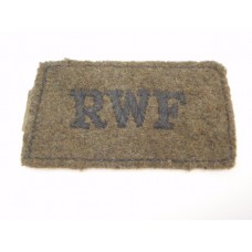 Royal Welch Fusiliers (R.W.F.) Cloth Slip On Shoulder Title